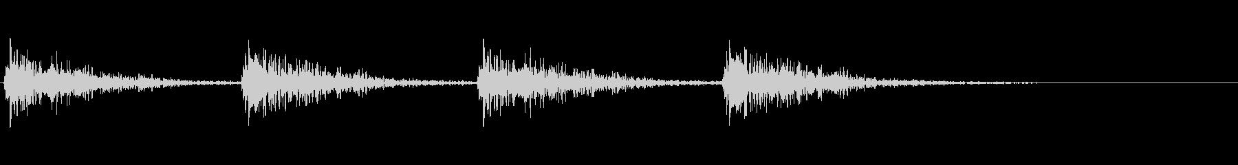 デカい足音の未再生の波形