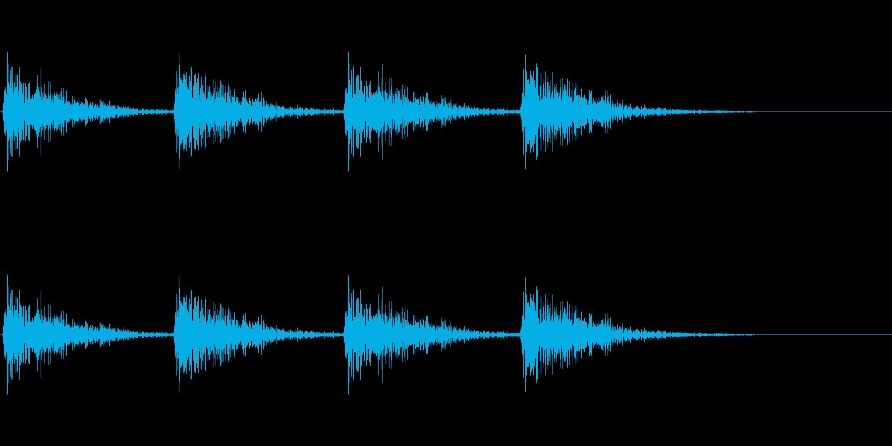 デカい足音の再生済みの波形