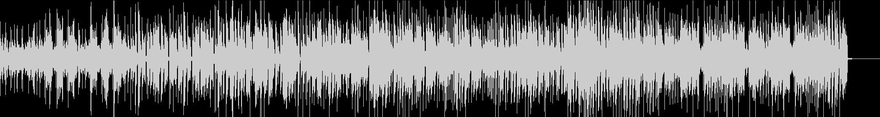 オルガンとピアノが交錯するポップなジャズの未再生の波形