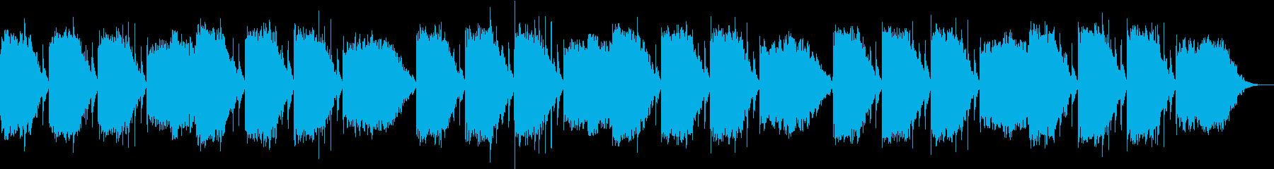 DNAを修復するといわれる528hz音楽の再生済みの波形
