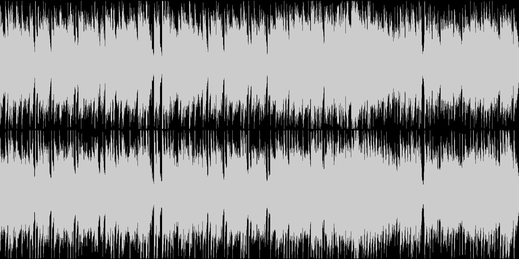 平和でほのぼの、アニメの日常風景BGMの未再生の波形