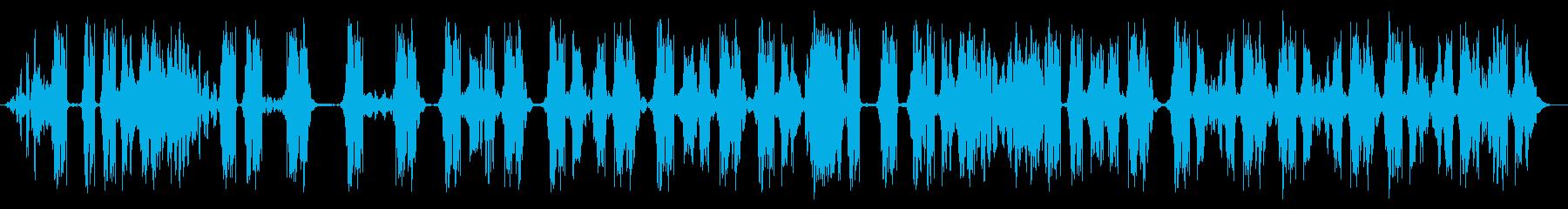 ワッキーテープスクラビング3の再生済みの波形