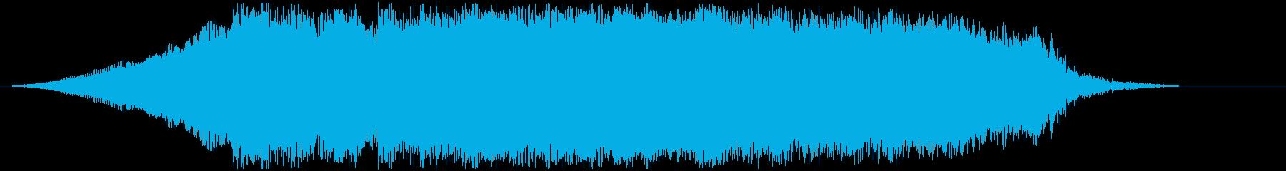 ジングルやOPタイトル用ヘヴィギターの再生済みの波形