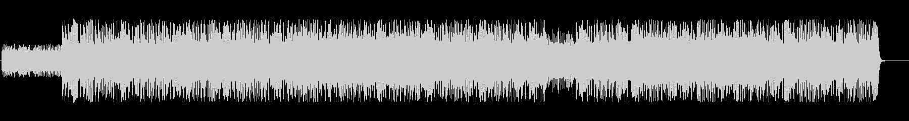 ダイナミックでドラムが印象的なテクノの未再生の波形