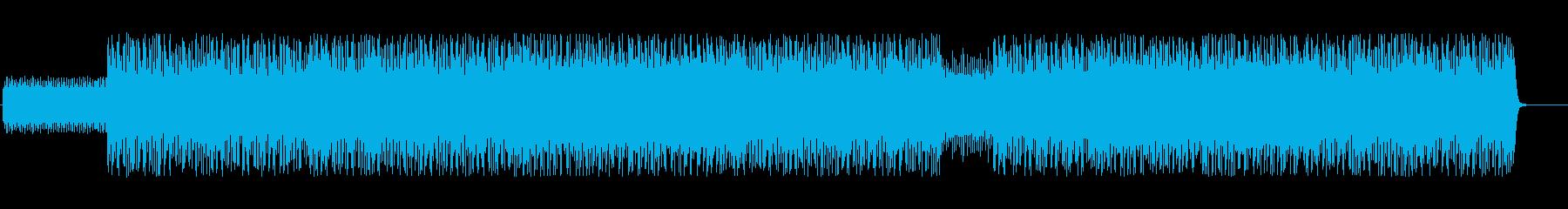 ダイナミックでドラムが印象的なテクノの再生済みの波形