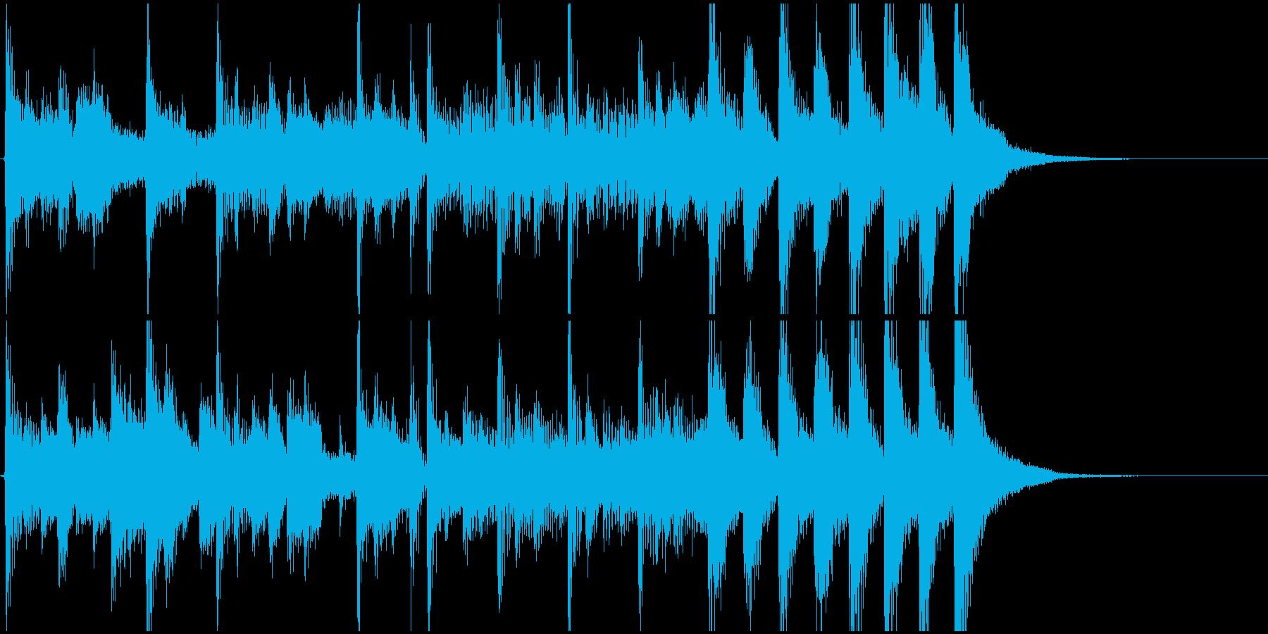 ラジオジングル7の再生済みの波形
