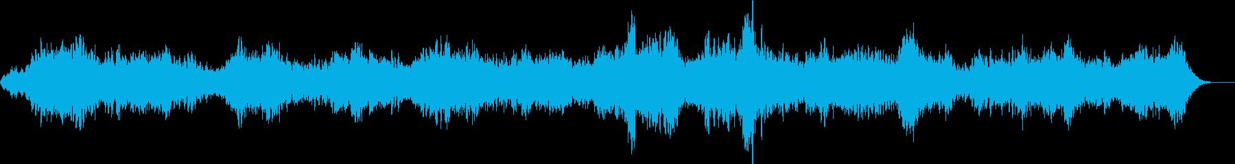 怪しい呼び声のようなホラー曲の再生済みの波形