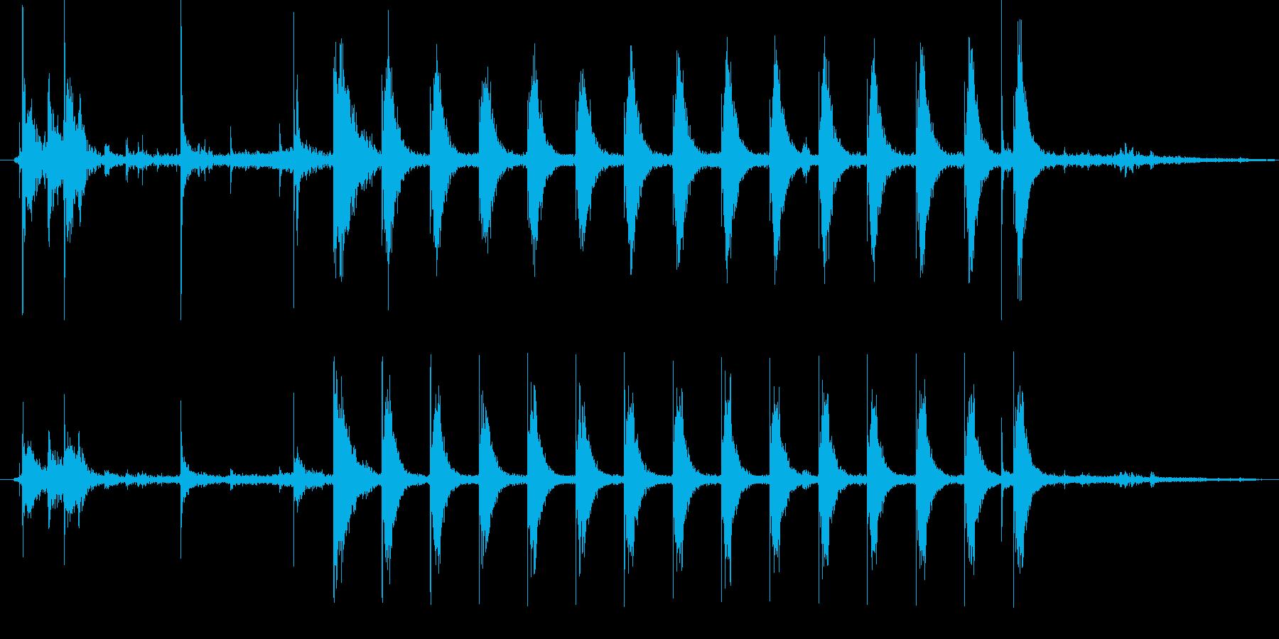 ガスコンロ点火時の音です。の再生済みの波形