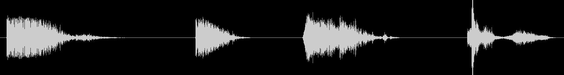 爆発原子爆発の未再生の波形
