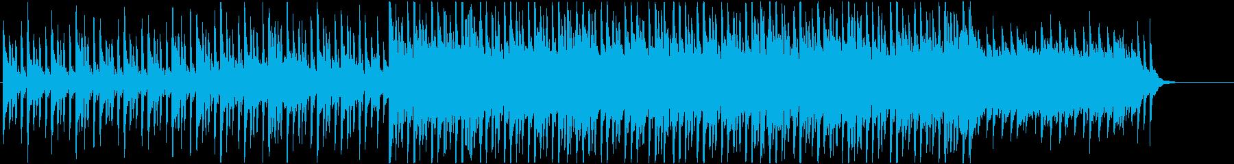 ポップス系 軽い感じのギター系4つ打ちの再生済みの波形