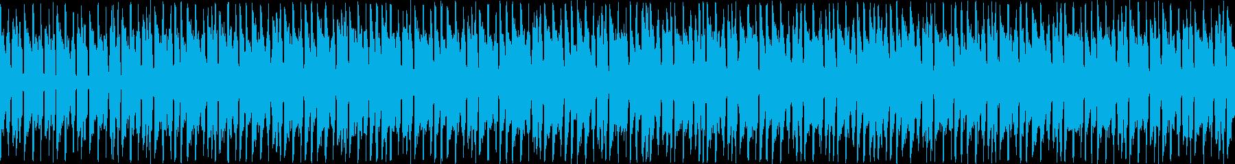 ギターとシンセリードのノリの良いループ曲の再生済みの波形