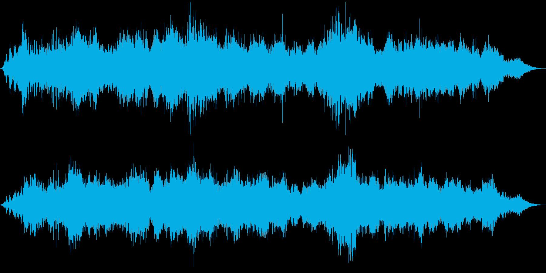 ドローン ホラーサイレン01の再生済みの波形