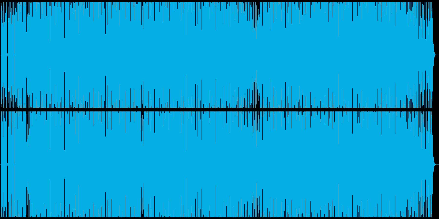 ファンキーでコミカルなポップス風BGMの再生済みの波形