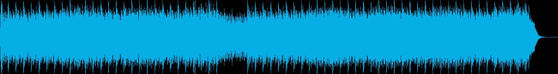 ホラー系追いかけられる緊迫BGMの再生済みの波形