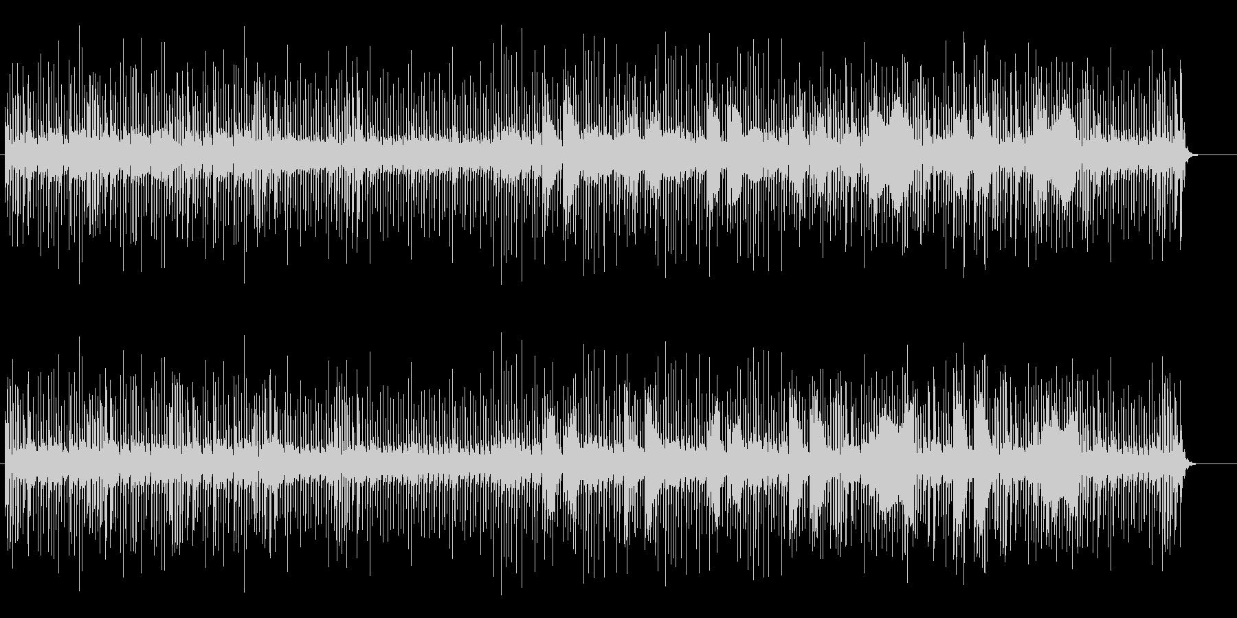 ユニークな響きのミュージックの未再生の波形