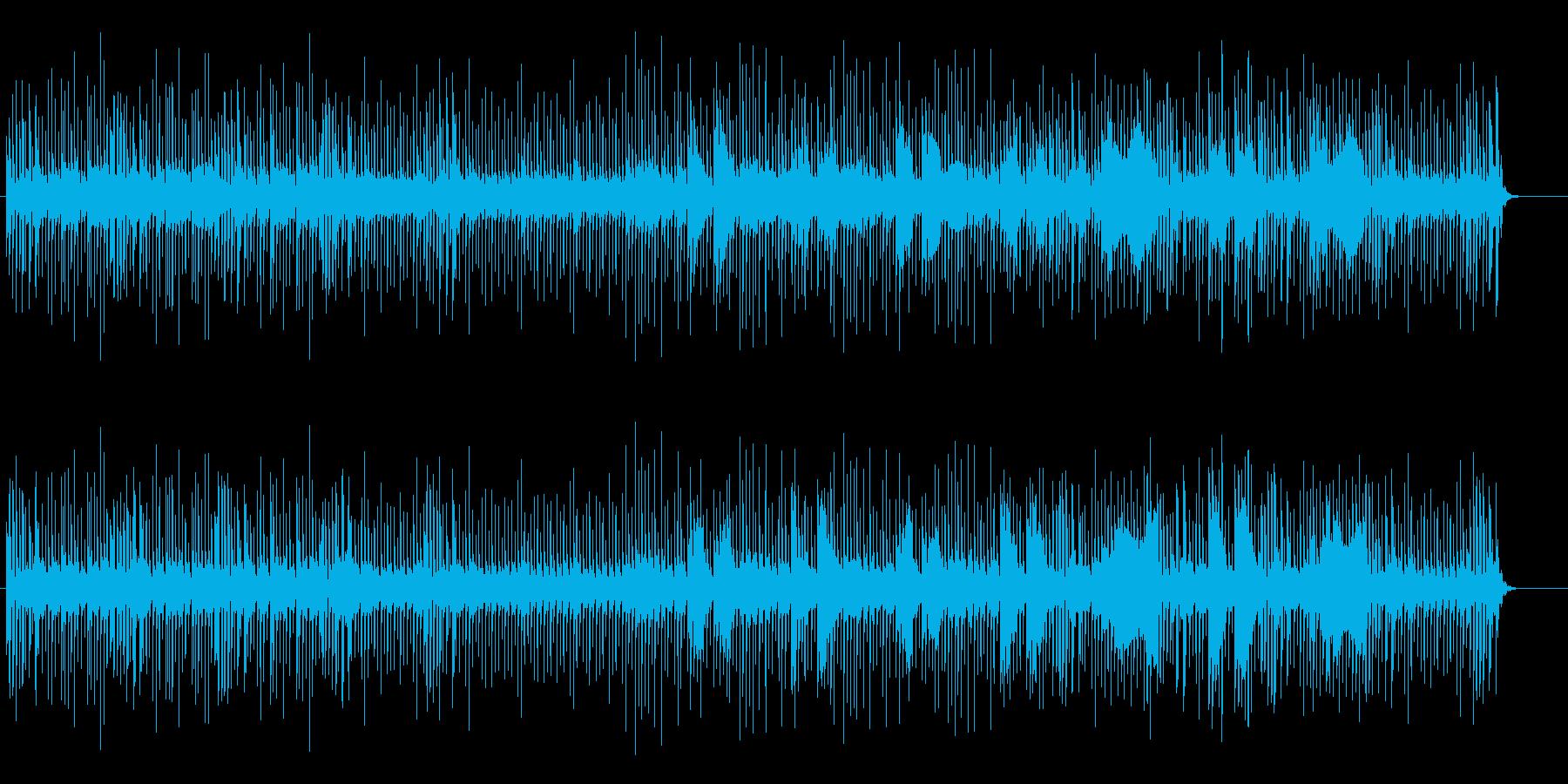 ユニークな響きのミュージックの再生済みの波形