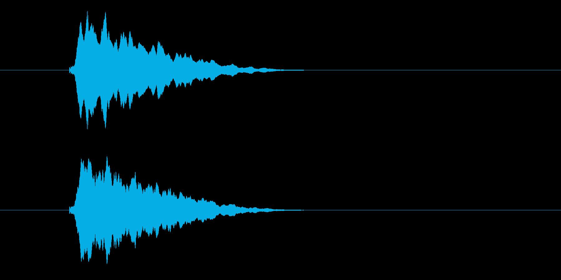 シャーン、テロップ音、スーパー。の再生済みの波形