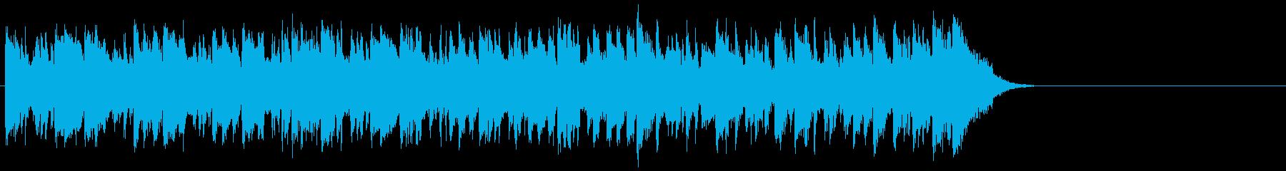 リゾート風なフュージョン(サビ~エンド)の再生済みの波形