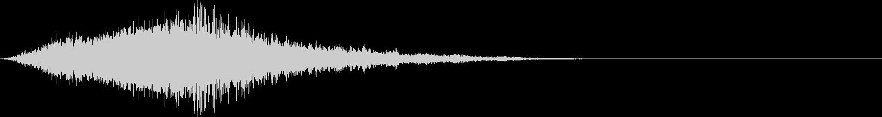 シューどーん:迫力の上昇していく音2の未再生の波形