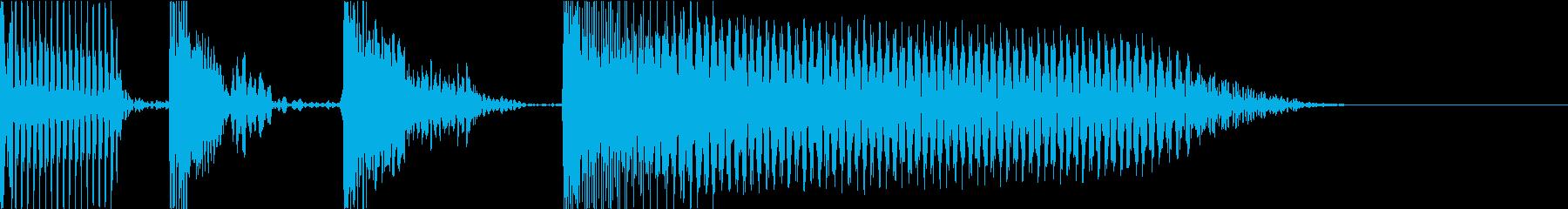 短いスラッブジングルの再生済みの波形