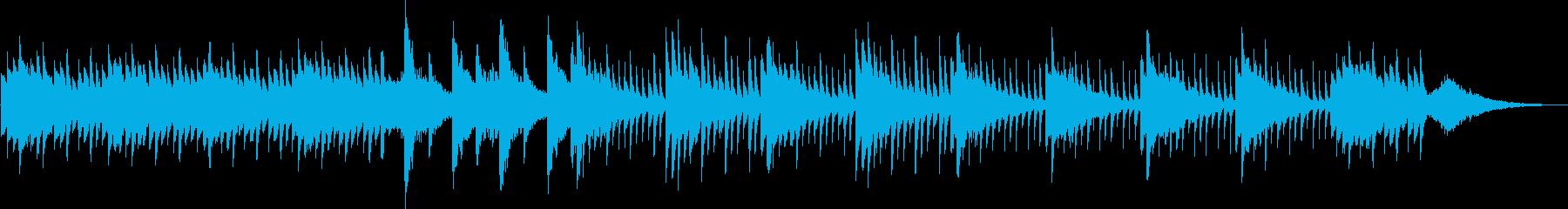 不穏なピアノのホラー曲の再生済みの波形