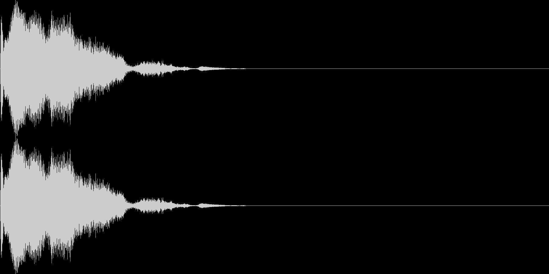 キン(カーソル、決定、スワイプ)の未再生の波形