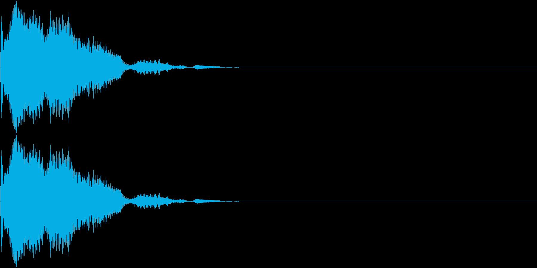 キン(カーソル、決定、スワイプ)の再生済みの波形