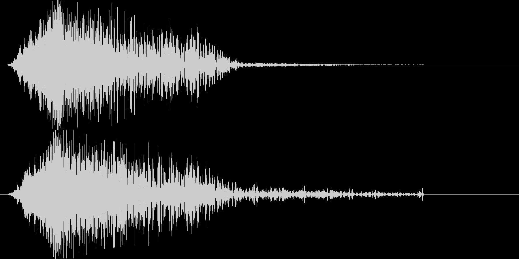 低音の衝突音 余韻長めの未再生の波形