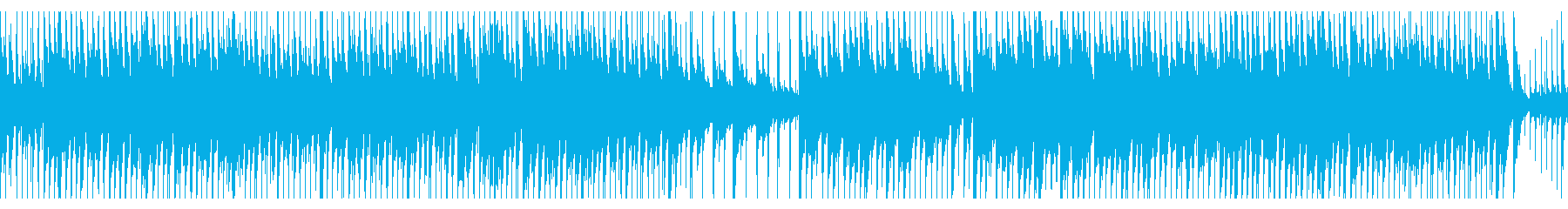 明るみと軽快みがあるジャズピアノの再生済みの波形