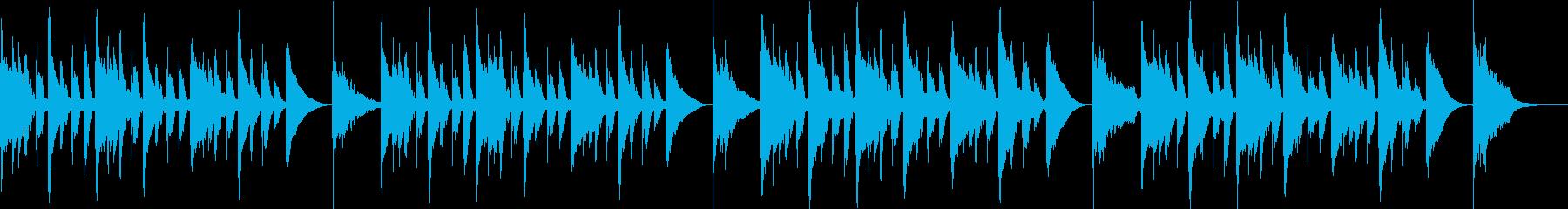 可愛い・バカ・日常、マリンバループBGMの再生済みの波形
