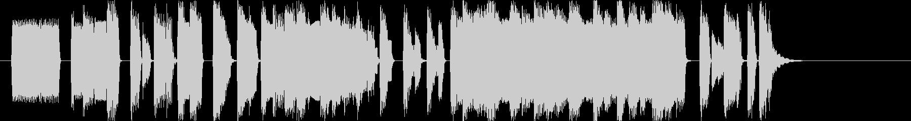 レトロなファミコン風マイナーBGMの未再生の波形