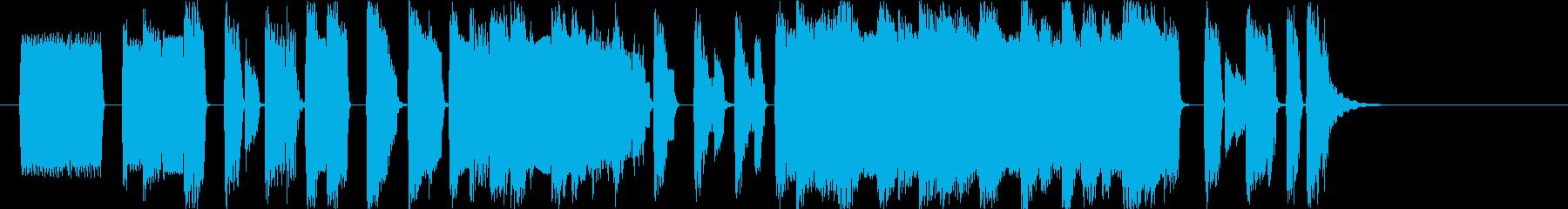レトロなファミコン風マイナーBGMの再生済みの波形