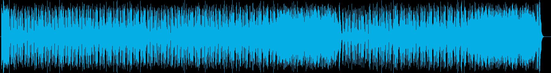クールでカッコイイリズミカルなポップスの再生済みの波形
