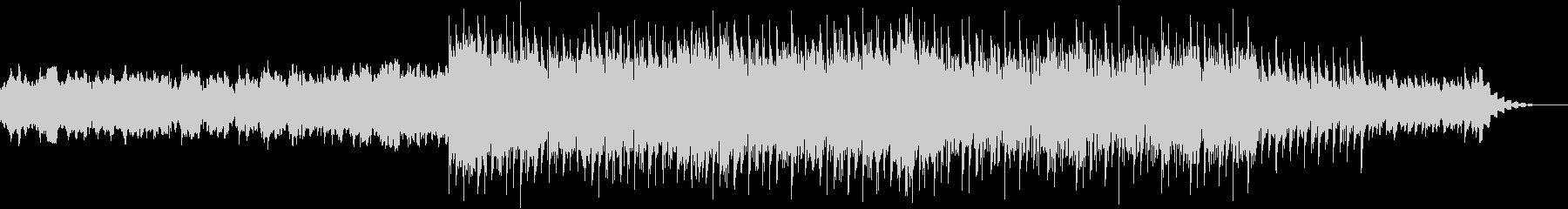 シンセとピアノによる、ニュースぽい曲の未再生の波形
