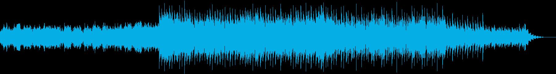 シンセとピアノによる、ニュースぽい曲の再生済みの波形