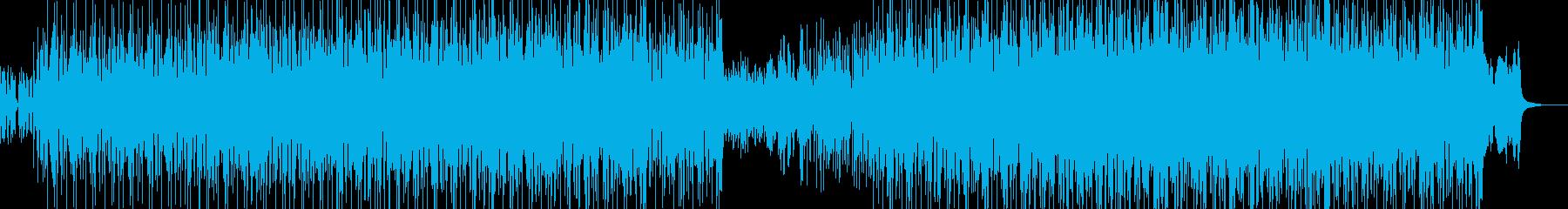 可愛いオバケが躍るようなハロウィン風の曲の再生済みの波形