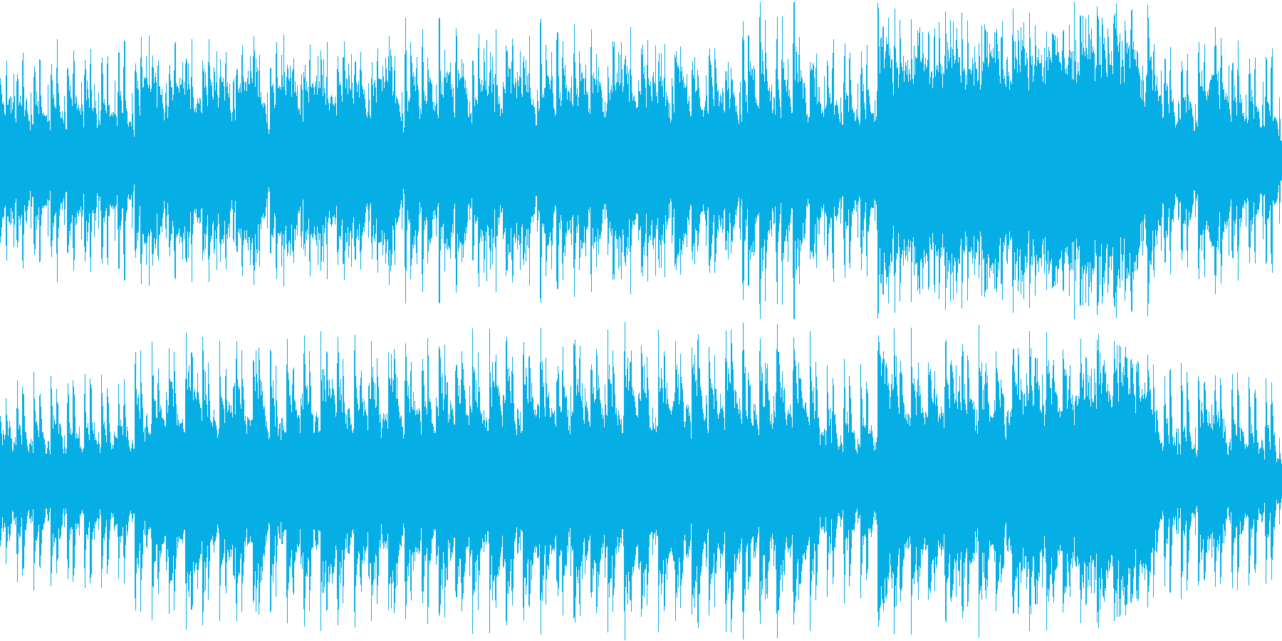【ループ】不思議な森、幻想的な雰囲気の3の再生済みの波形