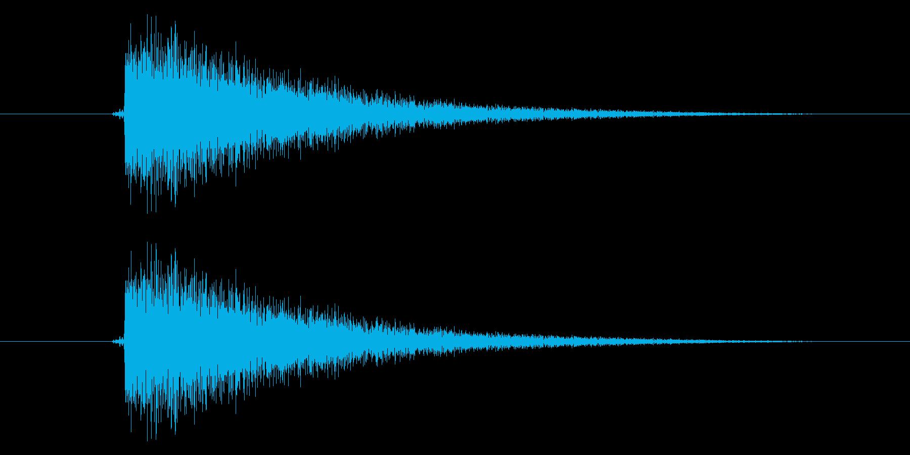 ビシの再生済みの波形