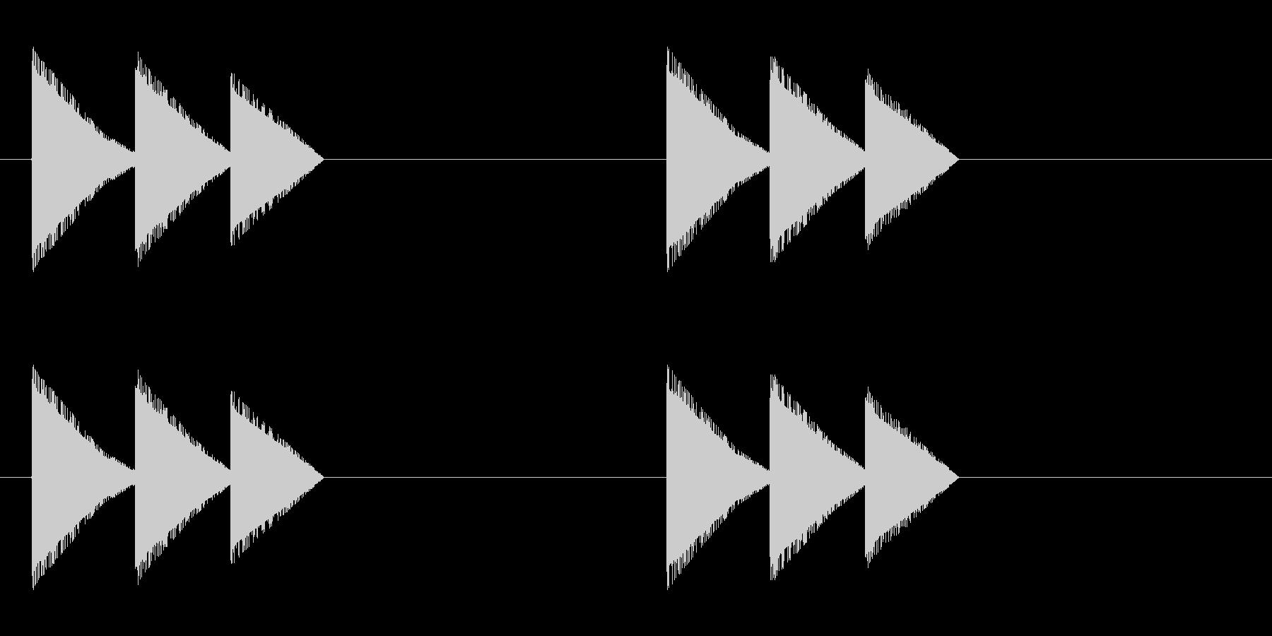 レトロゲーム風・馬の蹄・ループ再生の未再生の波形