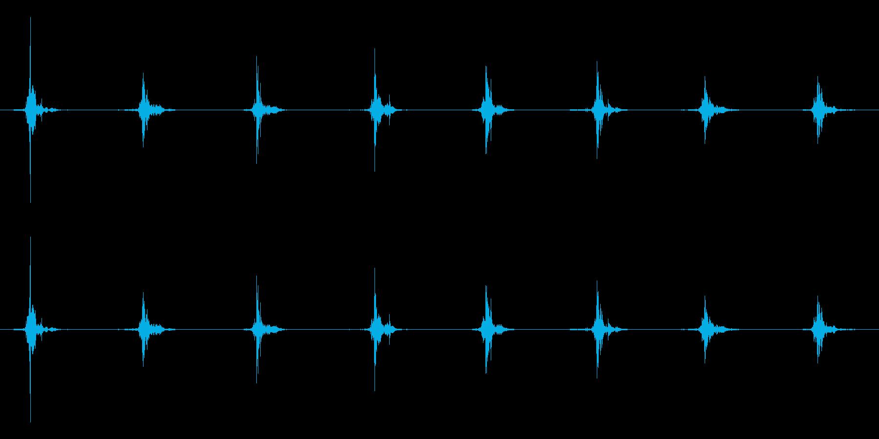 鳥 翼フラップ07の再生済みの波形