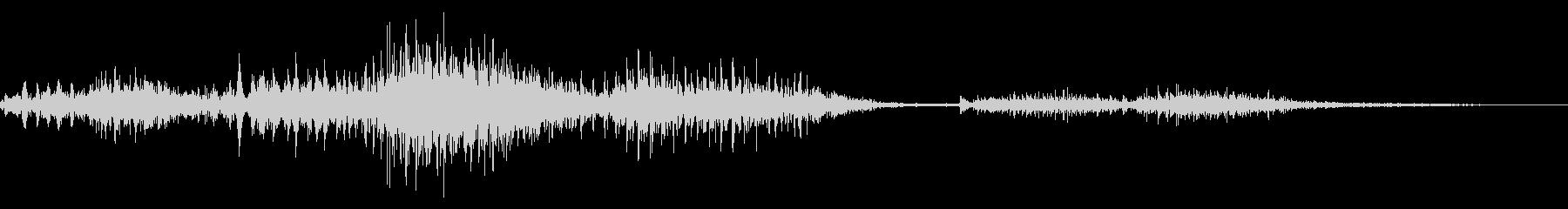 ゾンビやモンスターの唸り声/叫び声20bの未再生の波形