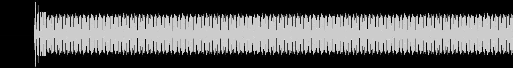 レジ(バーコードなどを読み取る)ピッの未再生の波形