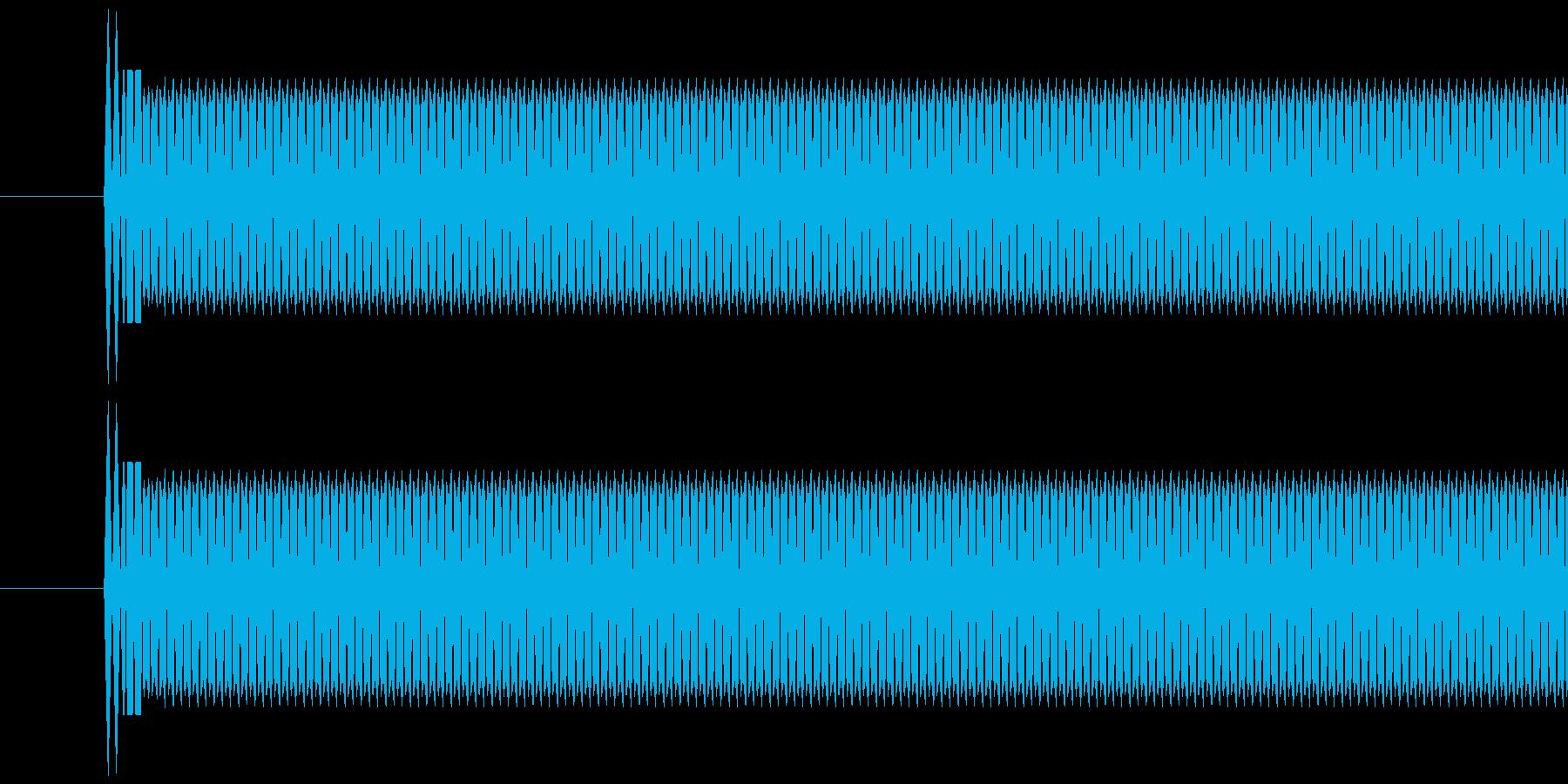 レジ(バーコードなどを読み取る)ピッの再生済みの波形