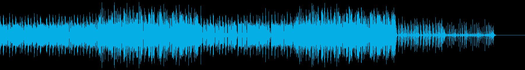 エレキギターでグルーヴのあるBGMの再生済みの波形
