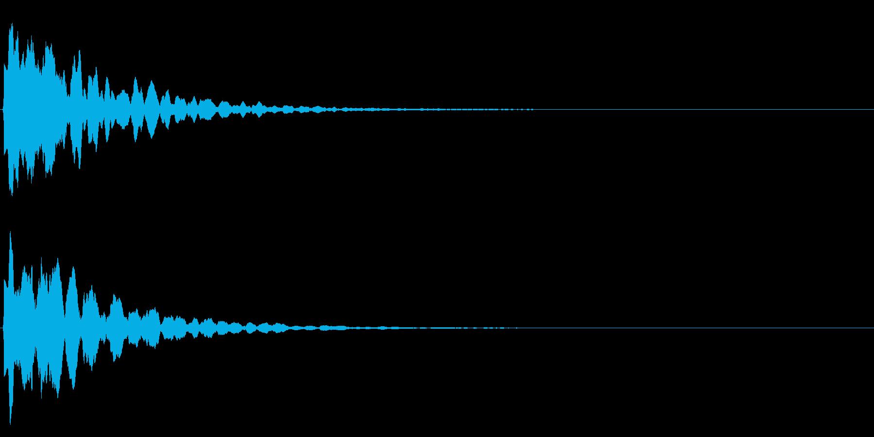 ゲームスタート、決定、ボタン音-155の再生済みの波形