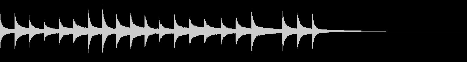 オーケストラベル:冬のベル、長いの未再生の波形