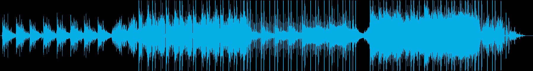 冷たさを表現したLofihiphopの再生済みの波形