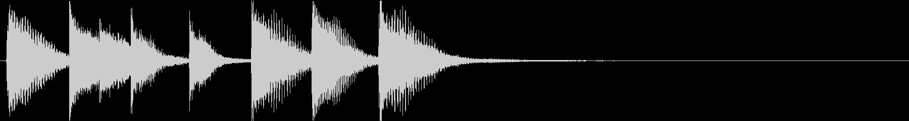 ピアノジングル 幼児向けアニメ系J-01の未再生の波形