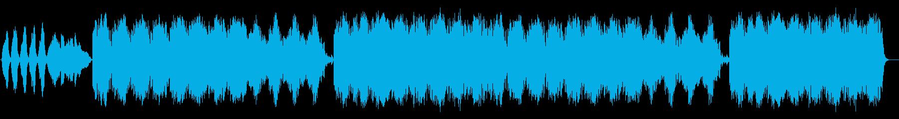 ファンタジーなシンセサイザーサウンドの再生済みの波形