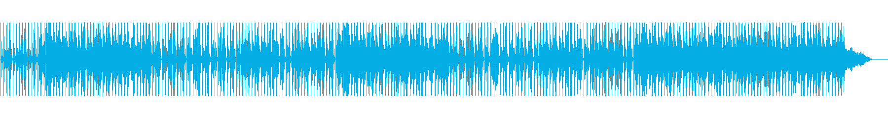 バンドっぽさを取り入れたスロービートの再生済みの波形